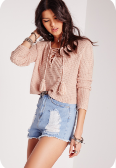 pull tricot pompom rose missguided