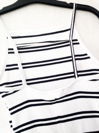 Robe rayé Bershka détail