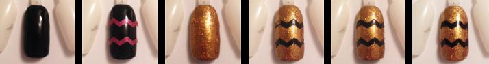 Step by step nail art chevron doré et noir.png