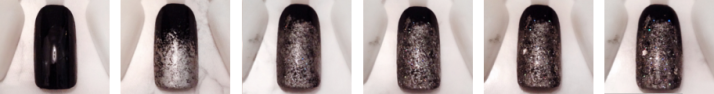 Step by step nail art noir et pailleté vernis.png