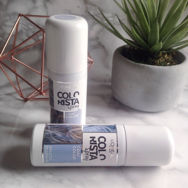 l'oreal spray colorista 1days #pastelbluehair et #greyhair (2).JPG