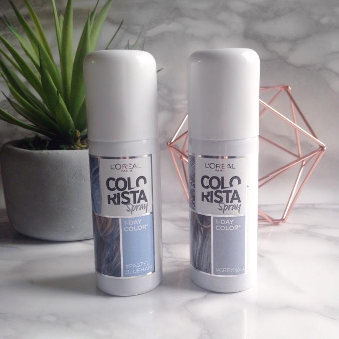 l'oreal spray colorista 1days #pastelbluehair et #greyhair (7).JPG