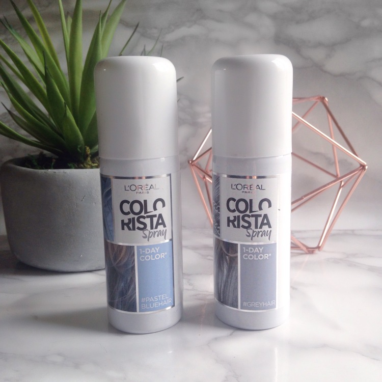 l'oreal spray colorista 1days #pastelbluehair et #greyhair (7).JPG