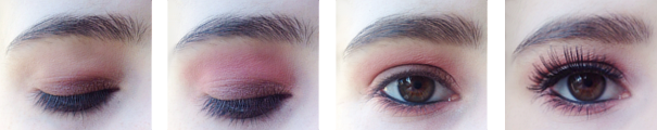 monday shadow challenge saumon too faced sweet peach et geometric palette sephora step by step.png
