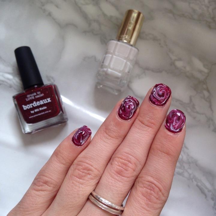 Nail art Dry Marble (5)