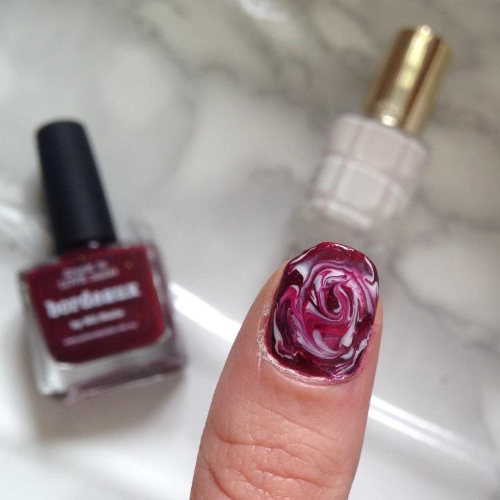 Nail art Dry Marble