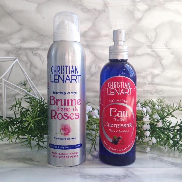 Brume d'eau de rose et Eau fruitée énergisante de Christian Lenart (1).jpg