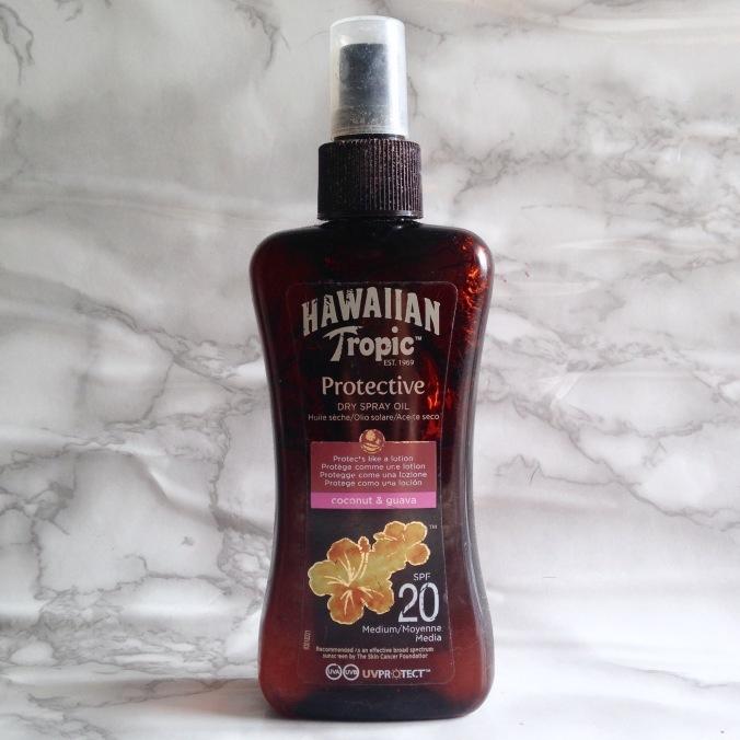 Produit solaire Hawaiian Tropic Huile sèche protective spf20