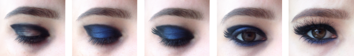 step by step Monday Shadow Challenge Noir + Bleu Roi.png