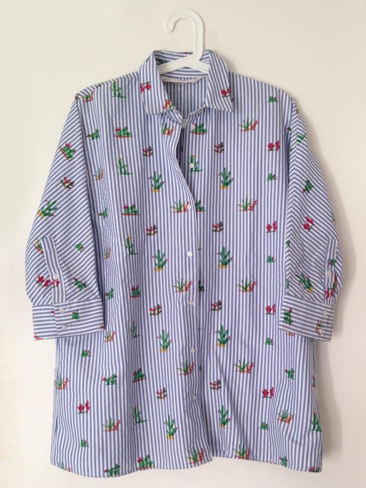 Chemise ample XS rayée motif cactus 9,99€ (1)