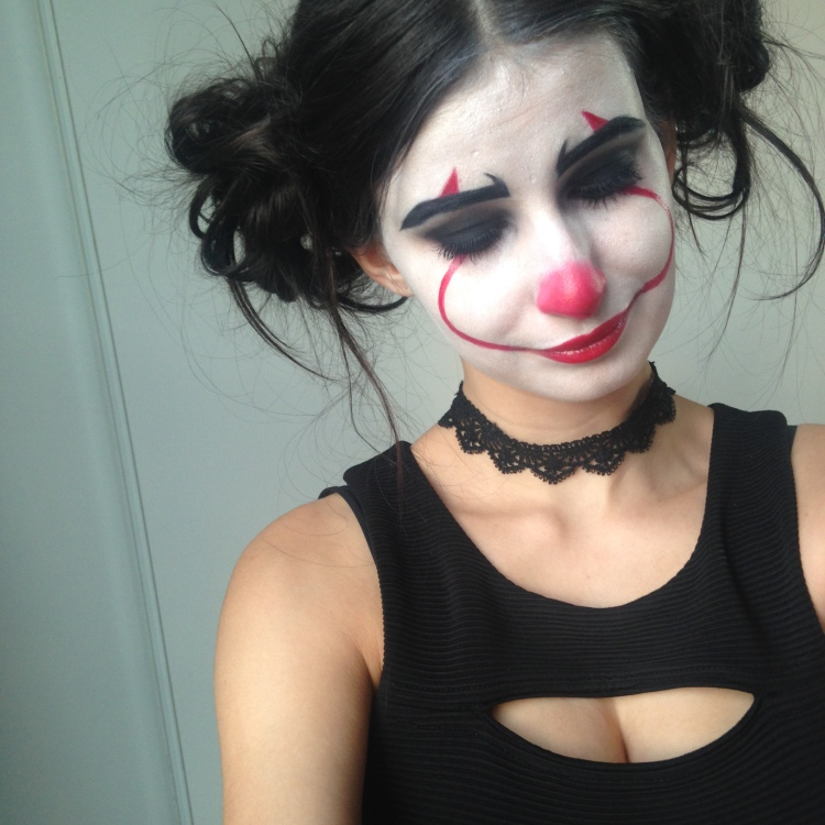 Makeup Halloween It Clown Inspiration (11)