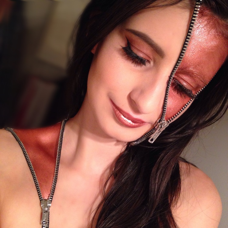 Halloween Zipper Makeup (5)