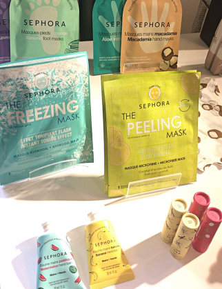 SEPHORA Masque tissu freezing mask peeling mask baume et masque mains baume lèvres