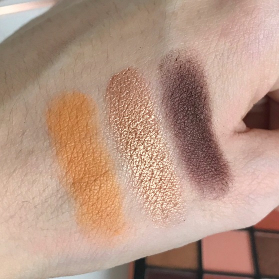 Palette Topaz Obsessions d'Huda Beauty Swatchs (1)