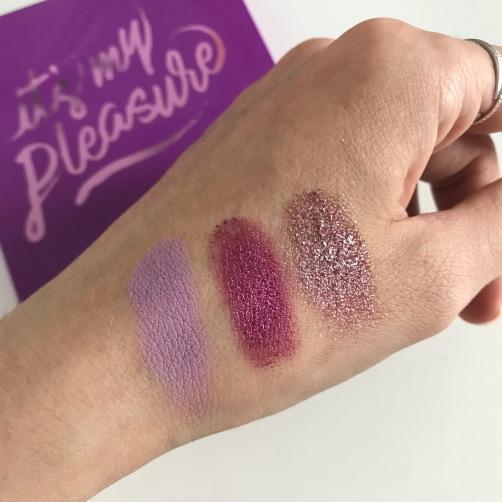 Palette It's My Pleasure de Colourpop (swatchs) (1)