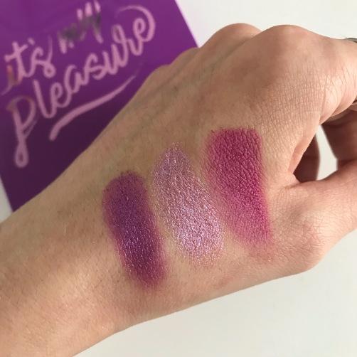 Palette It's My Pleasure de Colourpop (swatchs) (2)